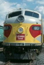 Lackawanna 807 in the NYSW yard