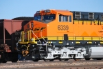 BNSF 6339 up close with her Road Number Lights lighting up in the bright sunlight at Cabello and Belle Ayr Mines south of Gillette, Wy.