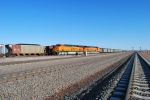 BNSF 6339 and BNSF 6337 wait to push a northbound coal train out of the Cabello Mine sideing.