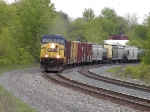 CSX 161 leading westbound mixed freight