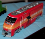 Amtrak Operation Lifesaver wrap locomotive model
