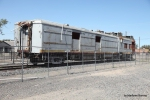 ATSF M190 Doodlebug awaits restoration and completion of the surrounding park