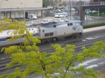 AMTK 52 sits with the Pennsylvanian at the Altoona Amtrak station