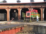 EBT M-7 moves out of the roundhouse