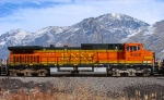 BNSF GE C44-9W NO.4022 WITH THE PROVO-DENVER MANIFEST,PROVO,UTAH JANUARY 30,2010.