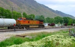 BNSF GE C44-9W 4965 ACTING AS DISTRIBUTED POWER UNIT.IRONTON,UTAH MAY 23,2010.