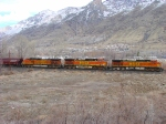 BNSF GRAIN TRAIN MARCH 7,2010,PROVO,UTAH.