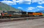 UP 6304 (FORMER SOUTHERN PACIFIC GE AC4400 NO.254) BNSF 4183.JUNE 19,2010.PROVO,UTAH.