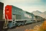 SOUTHERN PACIFIC SD40T-2 NO.8308 SPRINGVILLE,UTAH OCTOBER 18,1993.