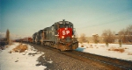 Southern Pacific's Provo Local.American Fork,Utah December 24,1993.