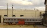 Unknown BNSF sleeper being rebuilt