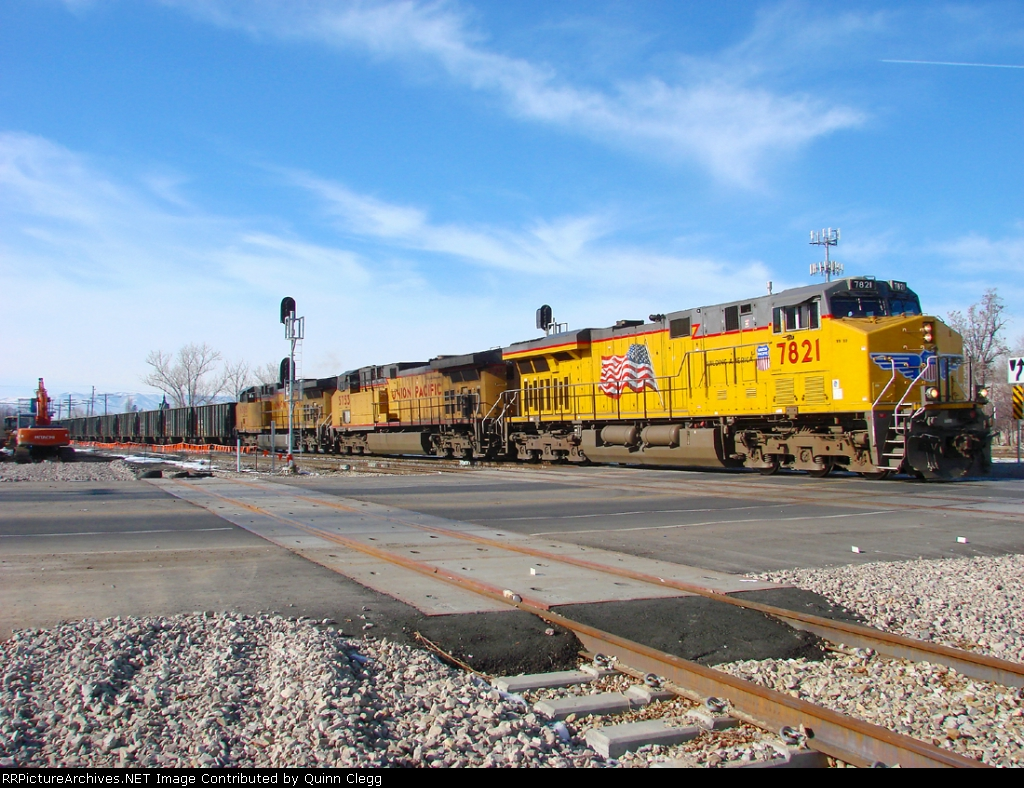 UNION PACIFIC ROCK SALT TRAIN PROVO,UTAH JANUARY 17,2010.