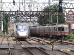 Acela passing Metro North