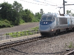 Acela passing by Secacus Junction