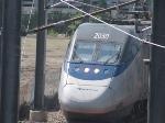 Acela 2150 leaving RI