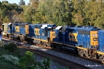 CSX 6422 and 6400 bracket an ex-GP30 road slug on the W032-08