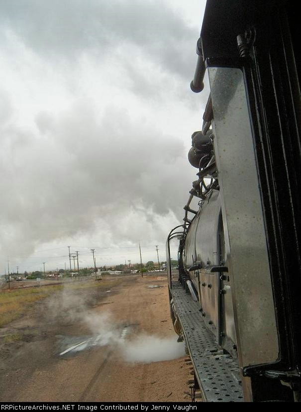UP 844 cab view