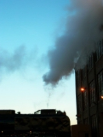 The silouette of steam...