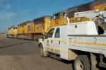 Highrail truck waiting