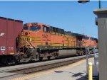 BNSF 5641 3RD UNIT IN GRAIN TRAIN