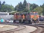 BNSF 1028 WITH BNSF 4841 PASSED VANCOUVER DEPOT