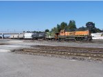 BNSF 2339 PERFORMING SWITCHING DUTIES IN THE YARD