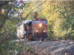 BNSF 5063 rehooking to an autorack to go East