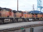 BNSF 5641 and sister waiting to enter the Port of Vancouver