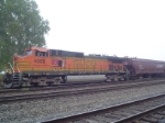 BNSF 4089 is Tie Down at the Grain Elevator Idling away