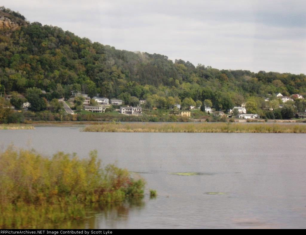 Trempaleau, Wisconsin as seen from the train