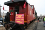 Santa's caboose for the Toys for Tots Special