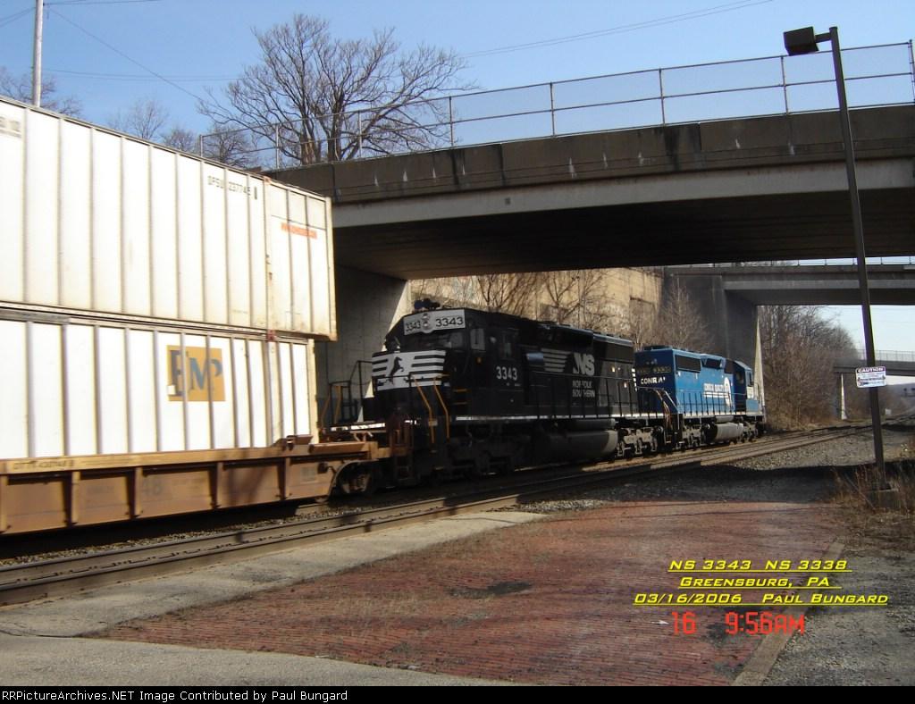 NS 3343   SD40-2       NS 3338    SD40-2      03/16/2006