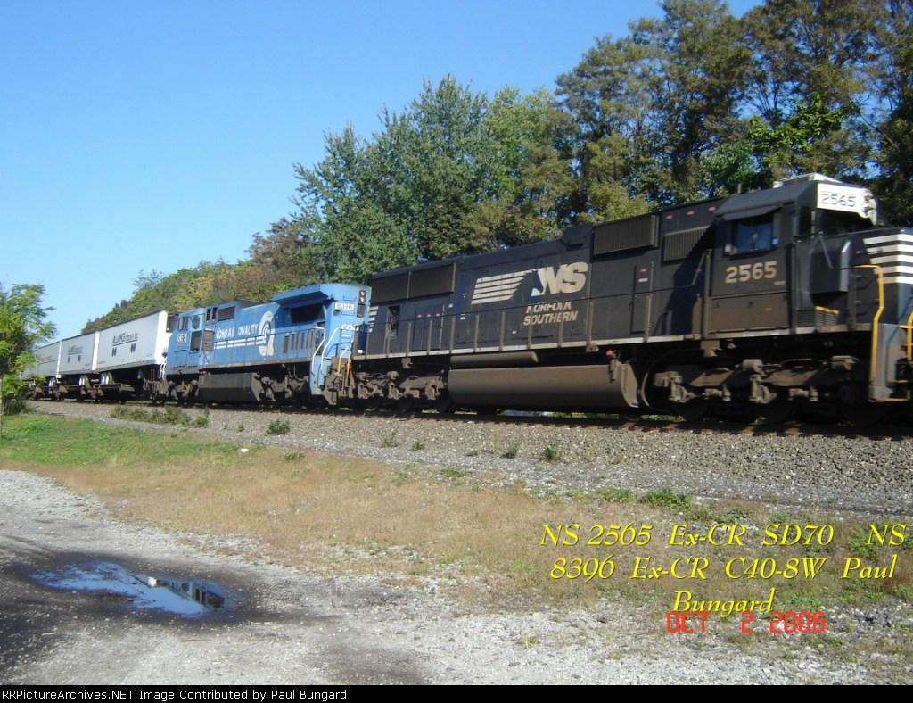NS 2565      SD70       NS 8396      C40-8W       10/02/2006