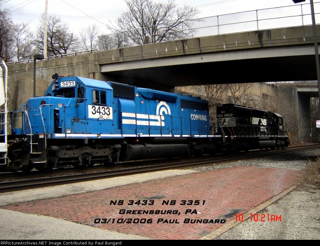 NS 3433    SD40-2       NS 3351    SD40-2       03/10/2006