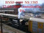 BNSF 1050    C44-9W       NS    1585    SD40       12/03/2005