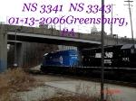 NS 3341    SD40-2         NS 3343    SD40-2       01/13/2006