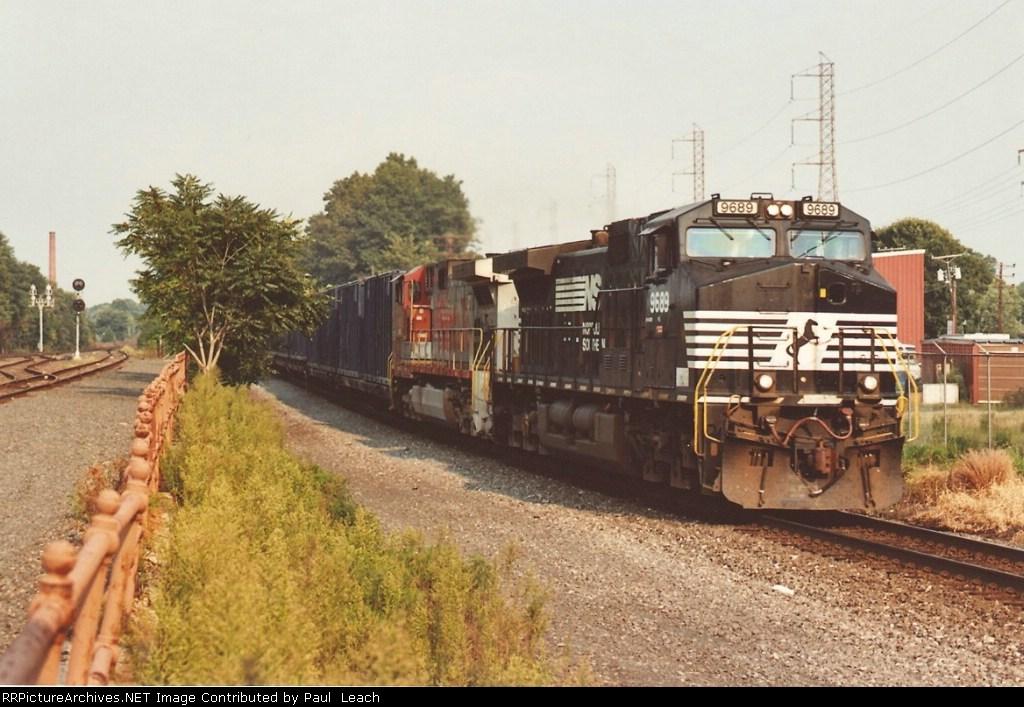 Westbound trash train