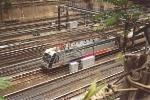 Commuter train departs Penn Station