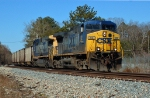 CSX 82 leads a 150 cars of coal