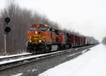 BNSF 4845 leads Westbound CSX Q351 at MP111
