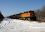 BNSF 5248 leads Eastbound CSX Q380 at MP QD111