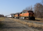BNSF 7435 leads Eastbound CSX Q380 at MP 120 on track number two