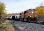 BNSF 7571 leads Eastbound CSX Q380 at Route 215