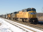 UP 4460 leads Eastbound CSX Q390