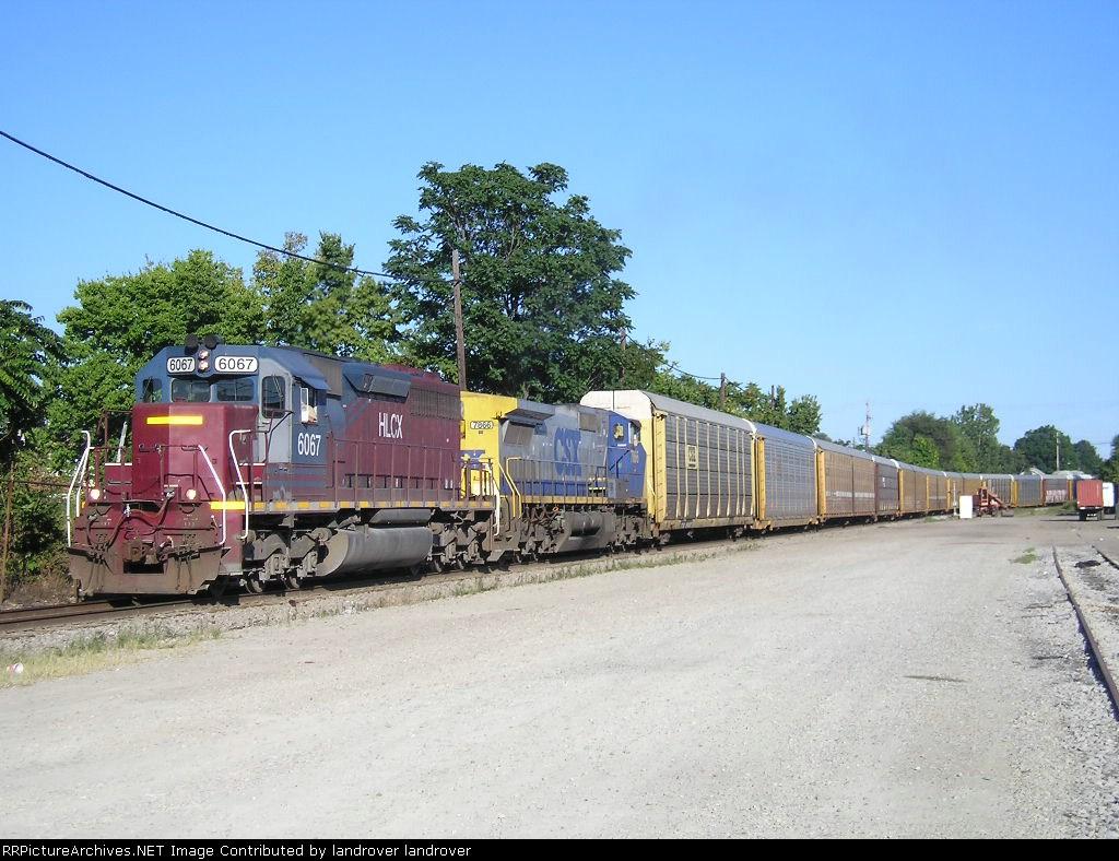 HLCX 6067 On CSX Q 268 -10 Westbound