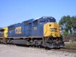 CSXT 704 On CSX K 587 -11 Steel Train Eastbound