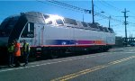 NJT 4510 being readied for delivery to NJT