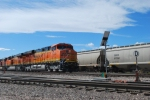 BNSF 6345 and BNSF 6347 roll north through the BNSF Denver yard with a empty coal train bound for Sterling, CO and then Alliance, NE.