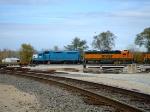 EMDX 804 and BNSF 2837