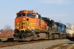 BNSF 4118 leads NS 213 with 2 NS locomotives including a rare conrail blue SD50 5416